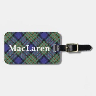 Het oude Geruite Schotse wollen stof van MacLaren Kofferlabels
