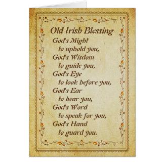 Het oude Iers die, de Wijsheid van de God om u te Briefkaarten 0