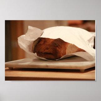 Het oude Italiaanse Brood van het Man Poster