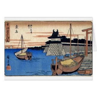Het oude Japanse Schilderen Circa 1800's Wenskaart