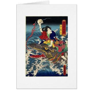 Het oude Japanse Schilderen, Japanse Vrouw die. be Wenskaart