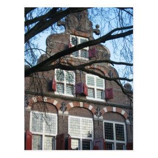 Het oude Nederlandse Briefkaart van het Huis Wens Kaarten