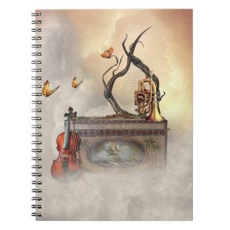 Het oude Notitieboekje van de Instrumenten van de Ringband Notitieboek