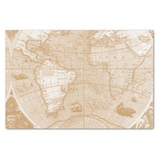 Het oude Papieren zakdoekje van de Kaart van de Tissuepapier