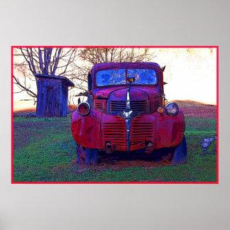 Het oude Poster van de Foto van de Vrachtwagen