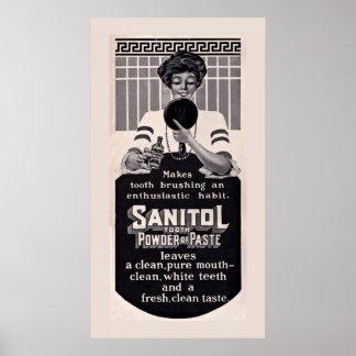 Het oude Poster van het Deeg van de Tand