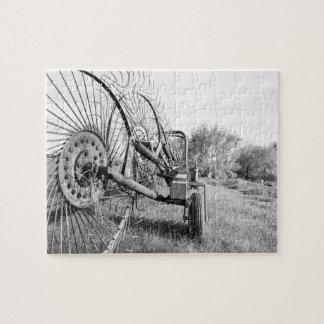 het oude raadsel van boerderijmachines legpuzzel