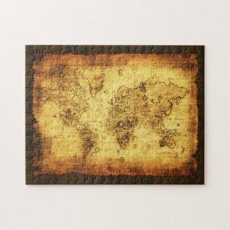 Het oude Raadsel van de Kunst van de Kaart van de Legpuzzel