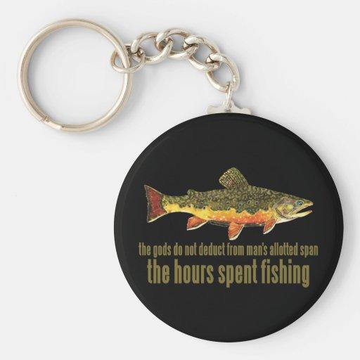 Het oude Spreuk van de Visserij Sleutel Hangers