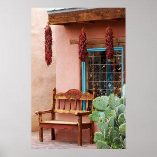 Het oude Venster van de Winkel van Albuquerque van Poster