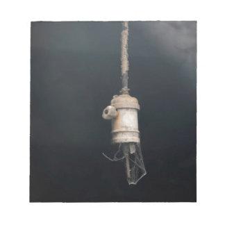 Het oude Vintage Hangen Elektrische Lightbulb Notitieblokken