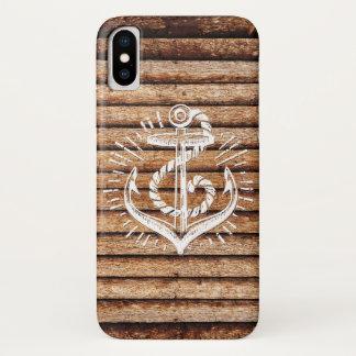 Het oude ZeevaartHout van het Anker iPhone X Hoesje