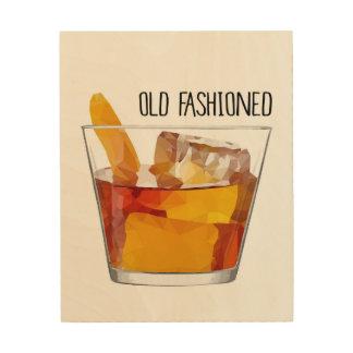 Het ouderwetse Art. van de Muur van de Bourbon van Hout Afdruk