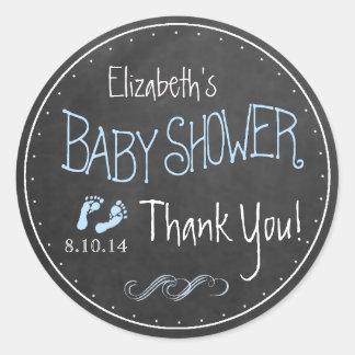 Het ouderwetse Baby shower van de Jongen van de Ronde Sticker
