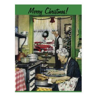 Het ouderwetse Vintage Briefkaart van Kerstmis van