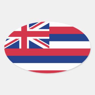 Het Ovaal van de euro-Stijl van de Vlag van Ovale Sticker
