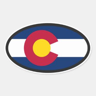 Het Ovaal van de Vlag van Colorado Ovale Sticker