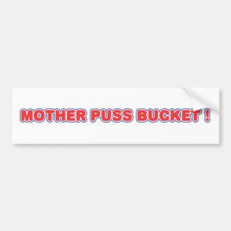 Het Overdrukplaatje van de Emmer van Puss van de m Bumpersticker