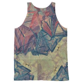 Het overhemd van de Bergbeklimming All-Over-Print Tank Top