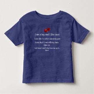 Het overhemd van de de jongensAuto van de peuter Kinder Shirts