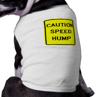 Het Overhemd van de Hond van de Bult van de snelhe T-shirt