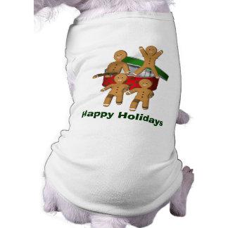 Het Overhemd van de Hond van de Vakantie van Kerst Shirt