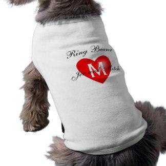 Het Overhemd van de Hond van het Huwelijk van de D Mouwloos Hondenshirt