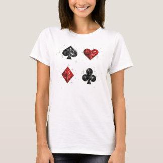 Het Overhemd van de Kaart van het Spel van harten T Shirt