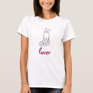 Het Overhemd van de Minnaar van de kat T Shirt