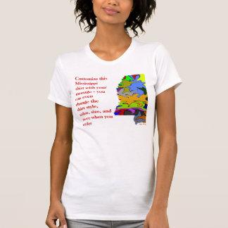 Het Overhemd van de Mississippi - Douane met T Shirt