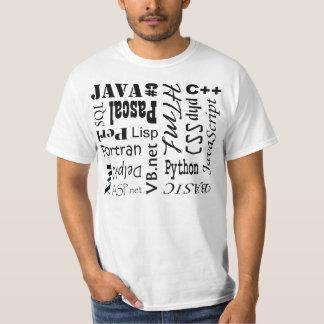 Het Overhemd van de Programmeertaal van de T Shirt