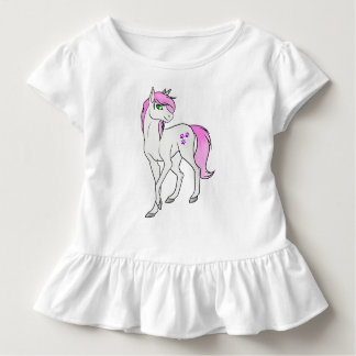 Het Overhemd van de Ruche van de Eenhoorn van Kinder Shirts