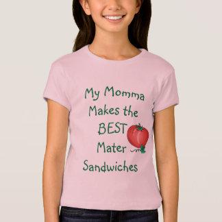 Het Overhemd van de Sandwich van Mater van Meisjes T Shirt