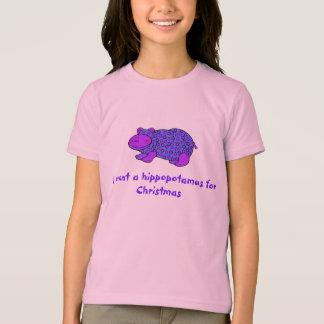Het overhemd van de sparKerstmis van het nijlpaard T Shirt
