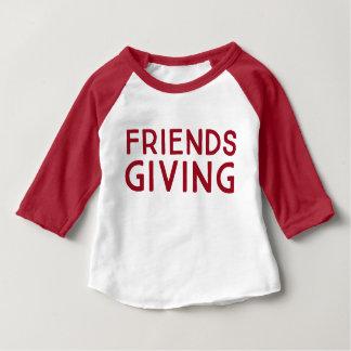 Het Overhemd van de Sport van Friendsgiving van Baby T Shirts
