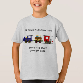 Het Overhemd van de Trein van de verjaardag T Shirt
