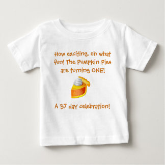 Het Overhemd van de Verjaardag van de Pastei van Baby T Shirts