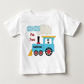 Het Overhemd van de Verjaardag van de Trein van Baby T Shirts