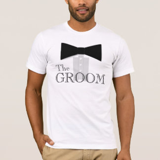 Het overhemd van de Vlinderdas van de Bruidegom T Shirt