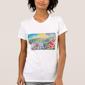 Het Overhemd van de Vrouwen van de Zonsondergang T Shirt
