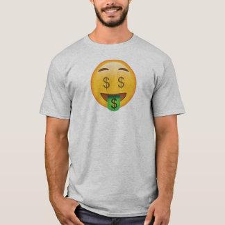 Het Overhemd van Emoji van het geld T Shirt
