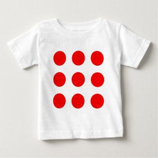 Het Overhemd van het baby met Rode Stippen Baby T Shirts