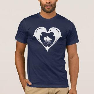 Het Overhemd van het Hart van dolfijnen T Shirt