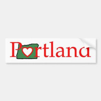 het Overhemd van het Hart van Portland Oregon Bumpersticker