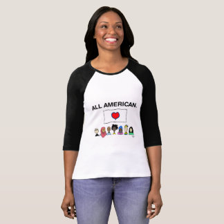 Het Overhemd van het Honkbal van alle Amerikaanse T Shirt