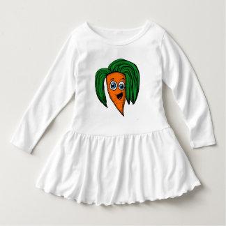 Het Overhemd van het karakter van de Wortel van de Baby Jurk