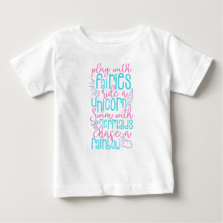 Het Overhemd van het Sprookje van het meisje Baby T Shirts