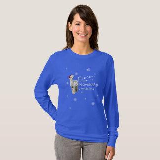 Het Overhemd van Kerstmis van de alpaca T Shirt