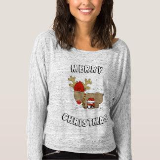 Het Overhemd van Kerstmis van het rendier Longsleeve