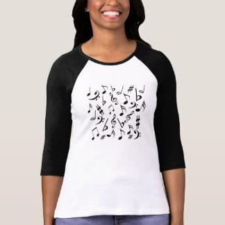 Het Overhemd van muzieknoten door Heard_ T Shirt
